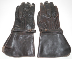 RAF Indian made despatch rider gloves used by a pilot.