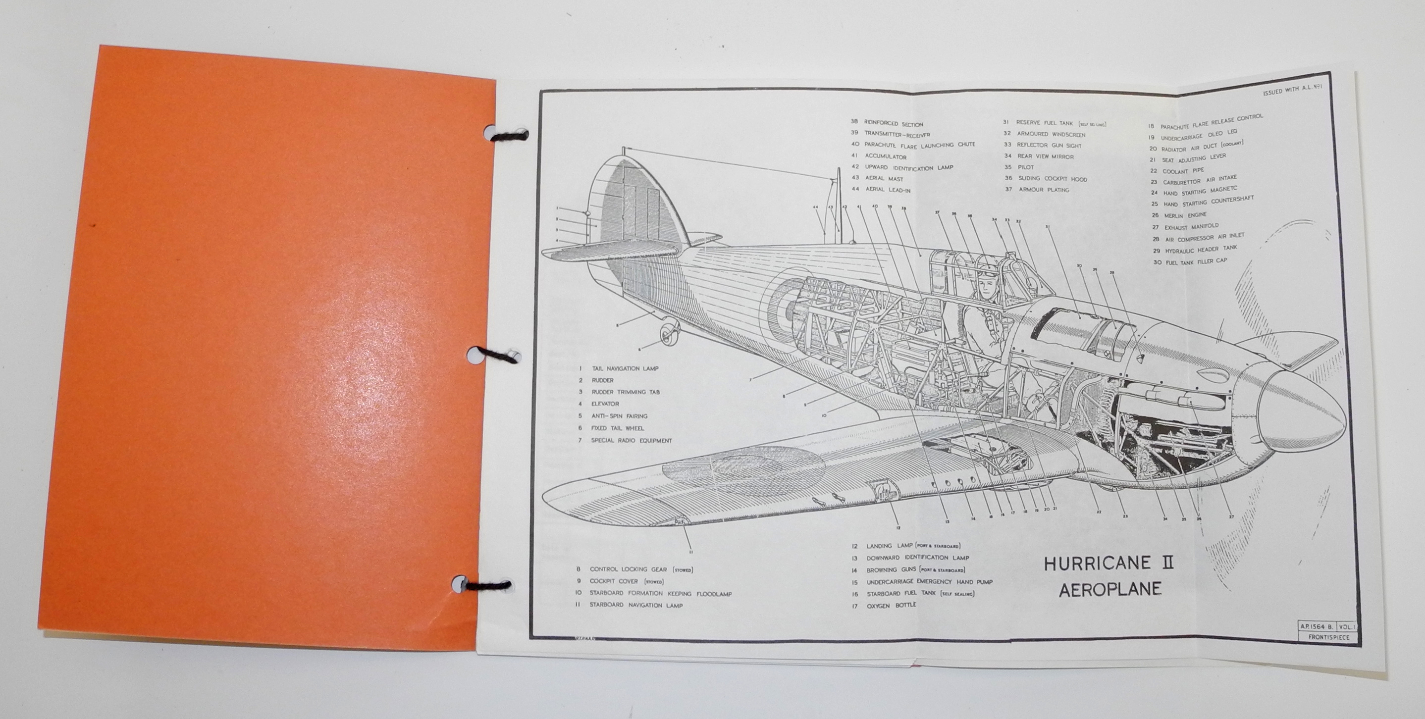 RAF Pilot's Notes Hurricane II + IV