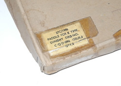 RAF paddles for the K dinghy, unissued, still in box
