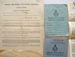 RAF unwired Type D flying helmet named to a Mosquito pilot with extensive documents and paper