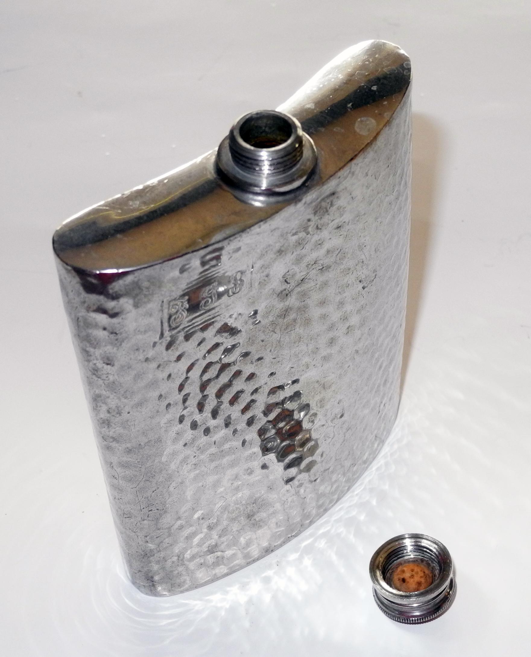 Survival - pewter hip flask