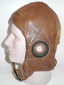 RAF 1930 Pattern Flying Helmet rigger modified for electronics5