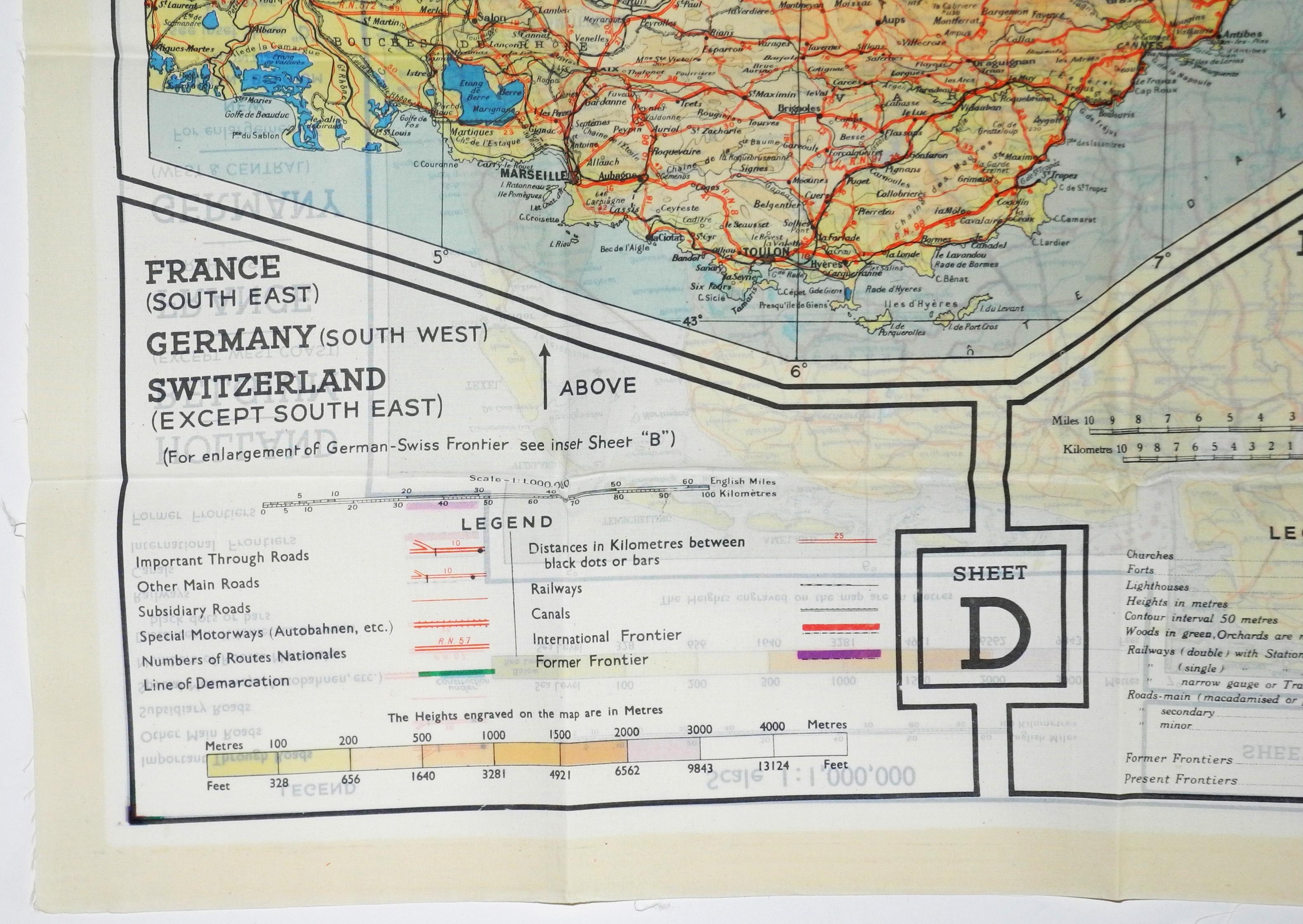 RAF MI9 Escape map, 43 series C/D091