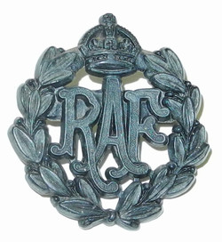 RAF cap badge war economy