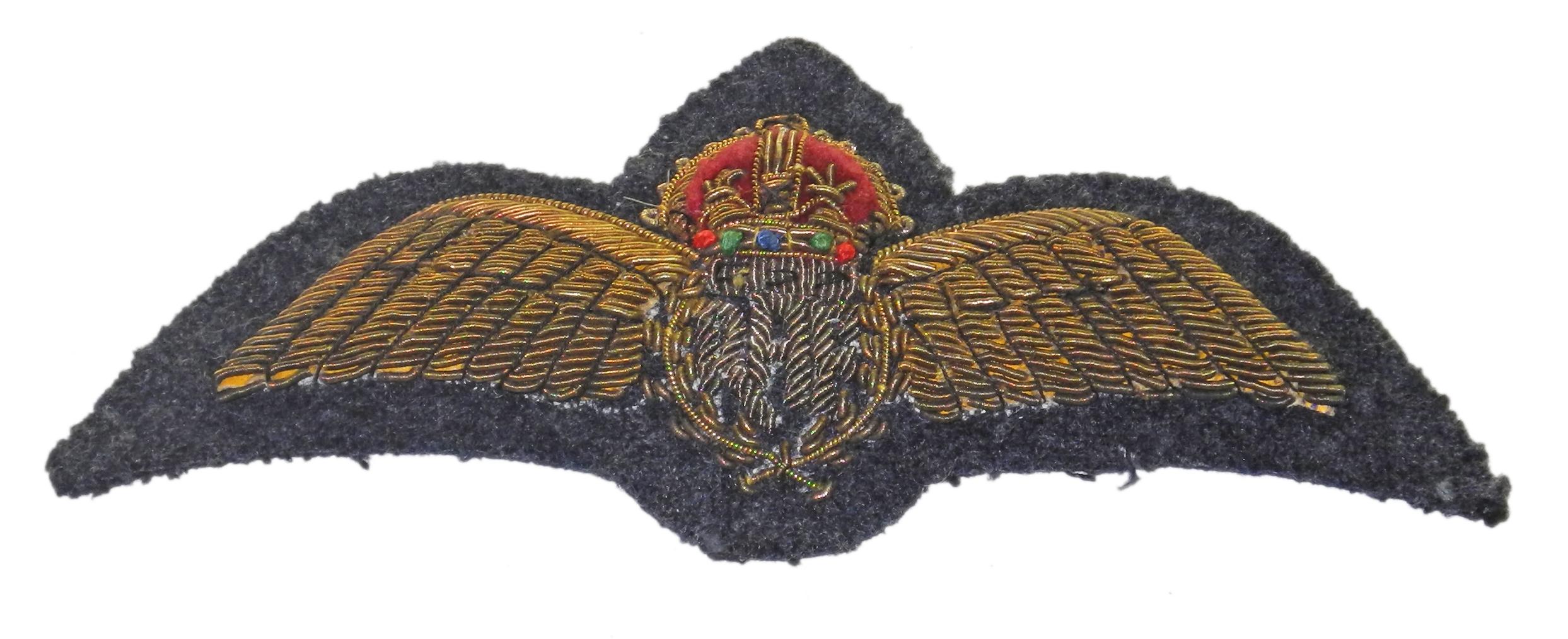 RAF bullion dress wing