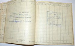 Log book and photo grouping to Defiant night fighter pilot