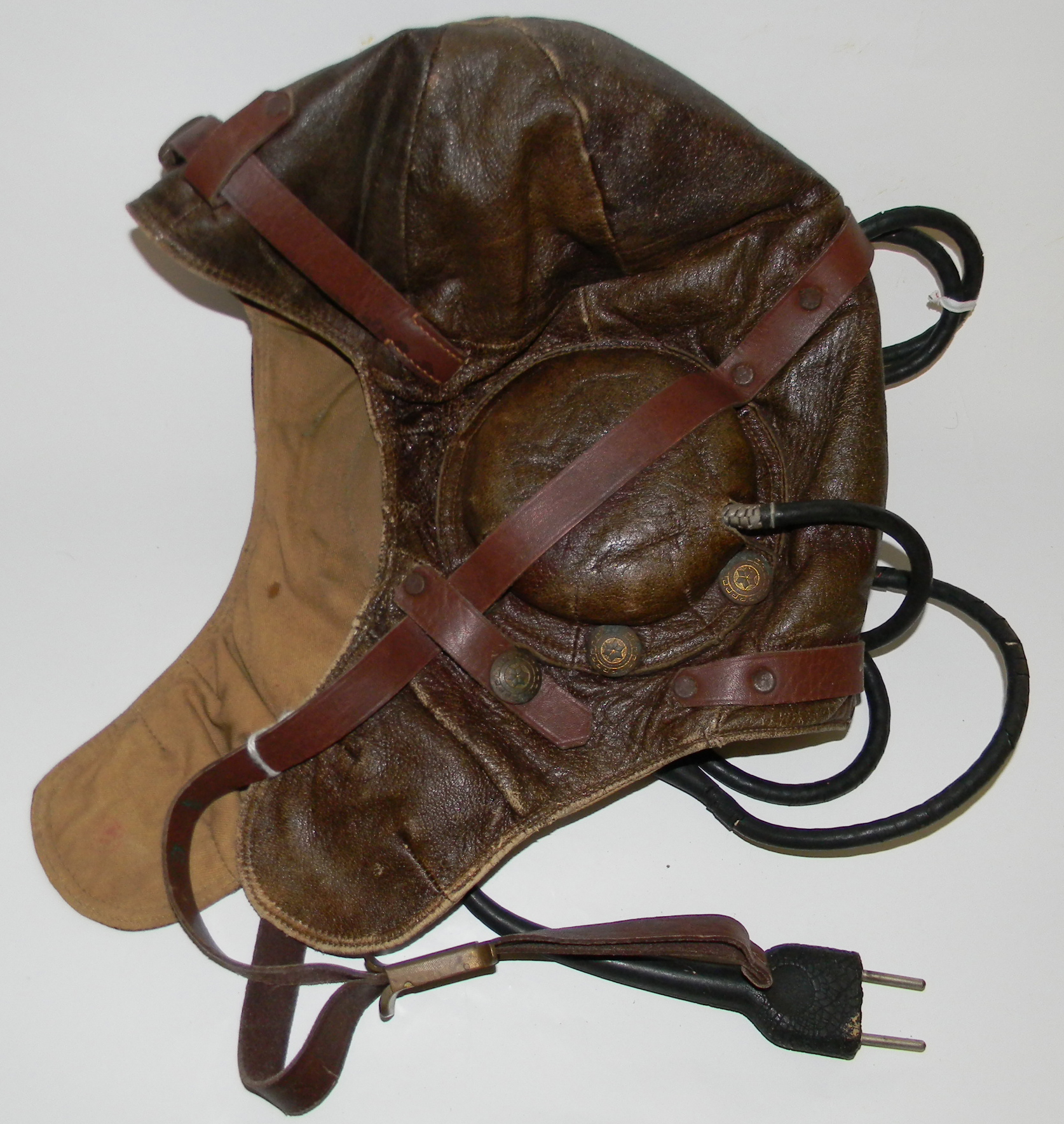 USSR tanker helmet with comms