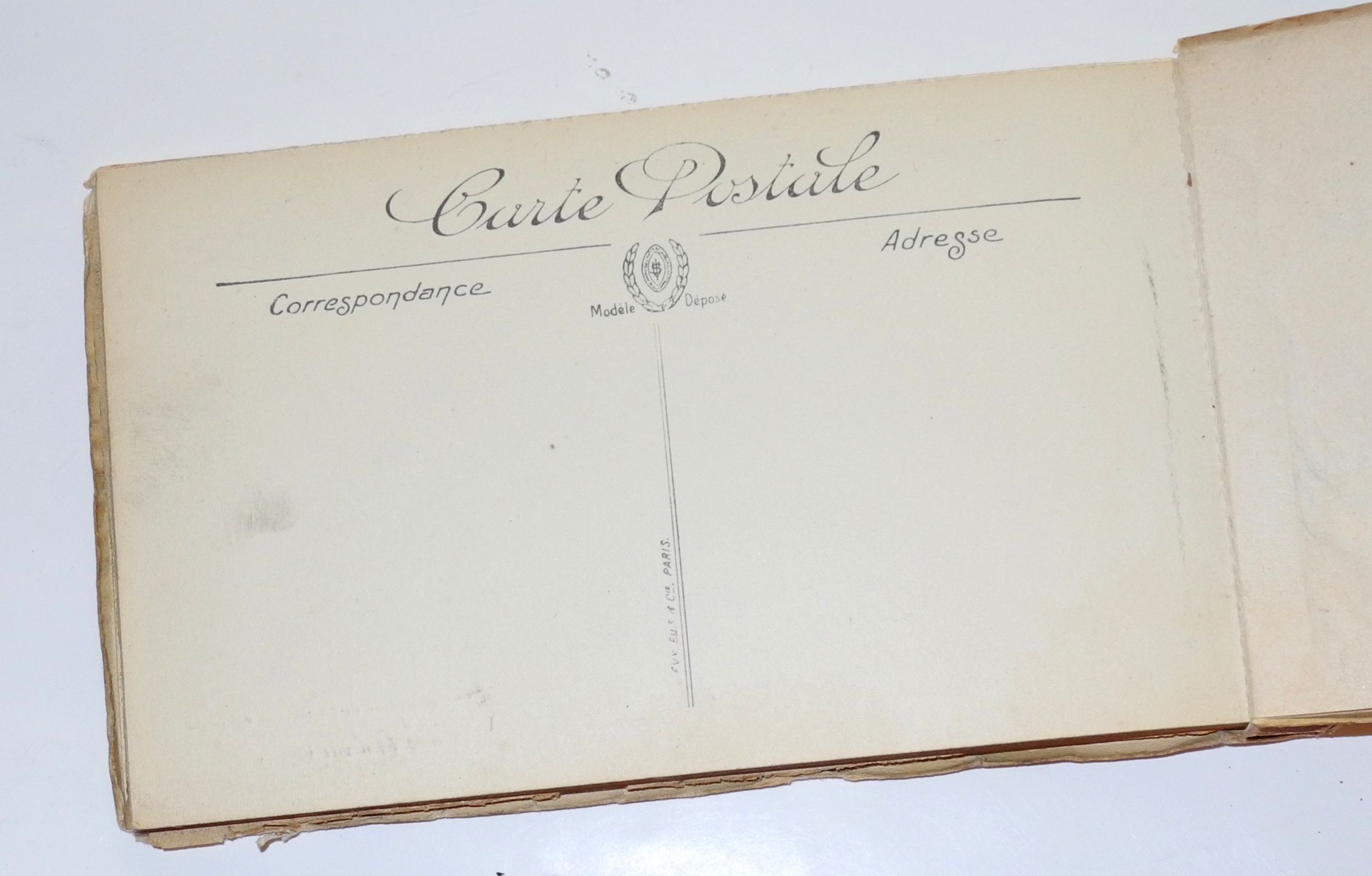"WWI booklet of French postcards ""Bataille de Champagne"""