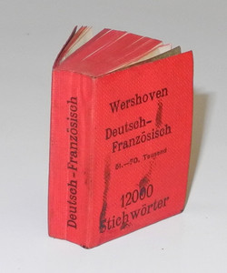 WWI mini French-German dictionary