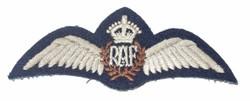 RAF flat pilot wing