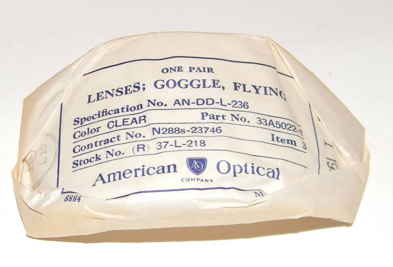 AAF / USN AO clear lenses for AN6530