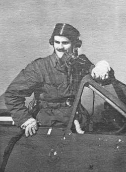 RAF Type C* (star) helmet with Type J mask and Mk I visorq. Venom D.H. Seaton