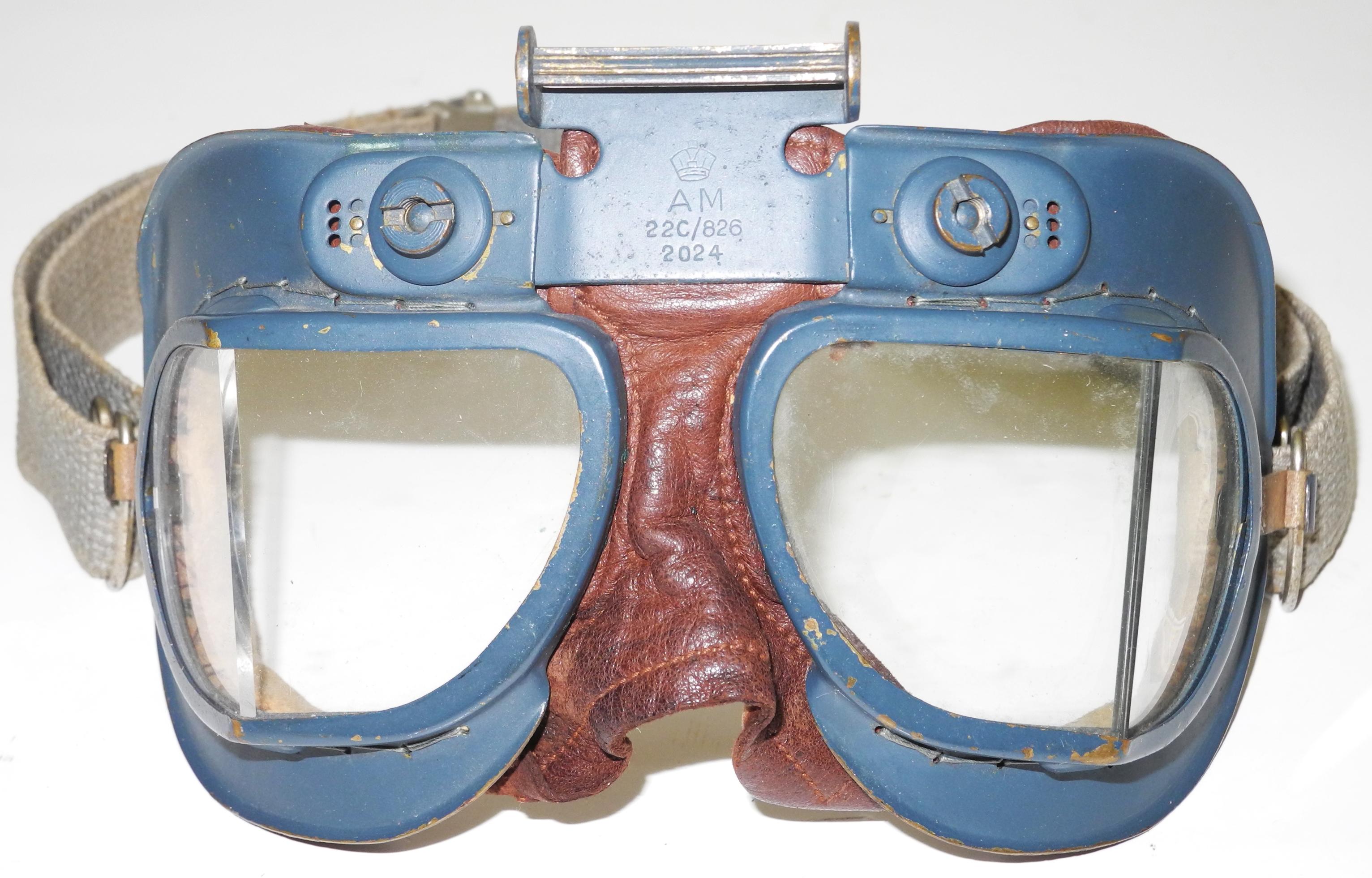 RAF Mk VII goggles - webbing strap