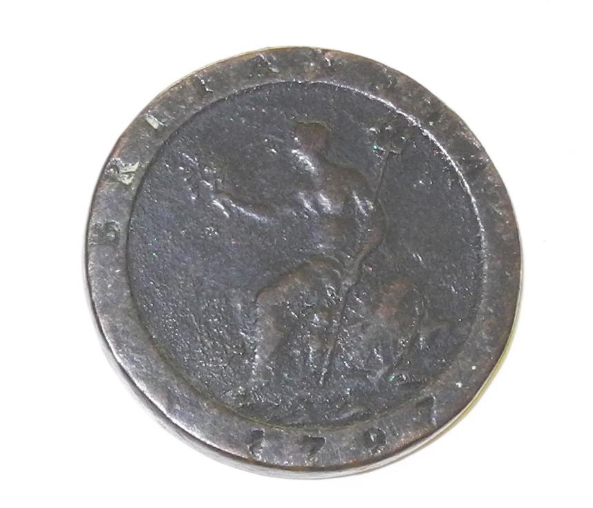 "George III ""Cartwheel"" penny $65"