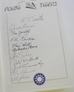 Signed Flying Tigers book