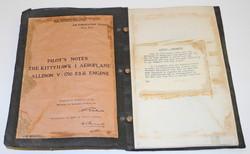 RARE RAF Pilots Notes for the Mk I Kittyhawk aircraft