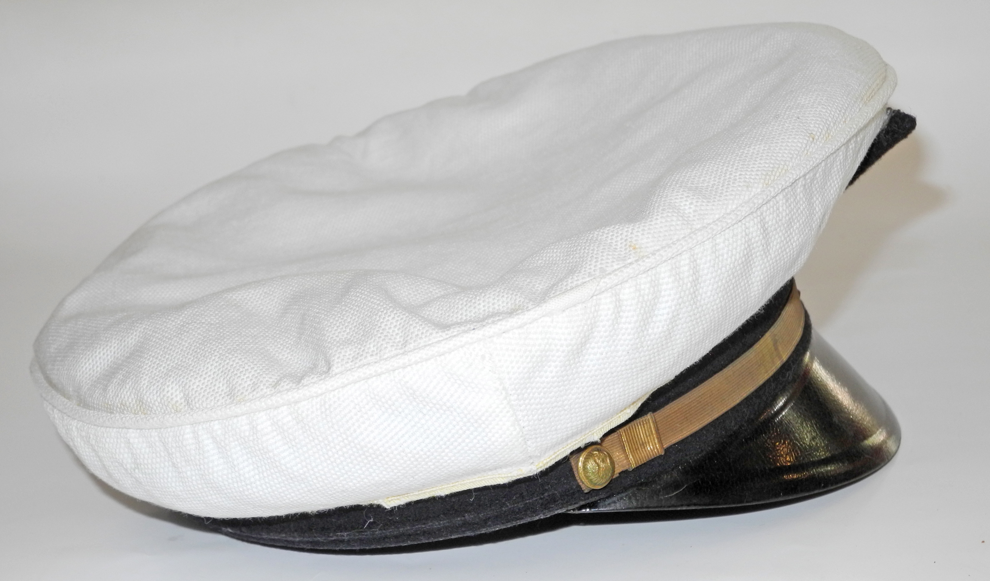 WWII French Air Force officer's cap with white cover