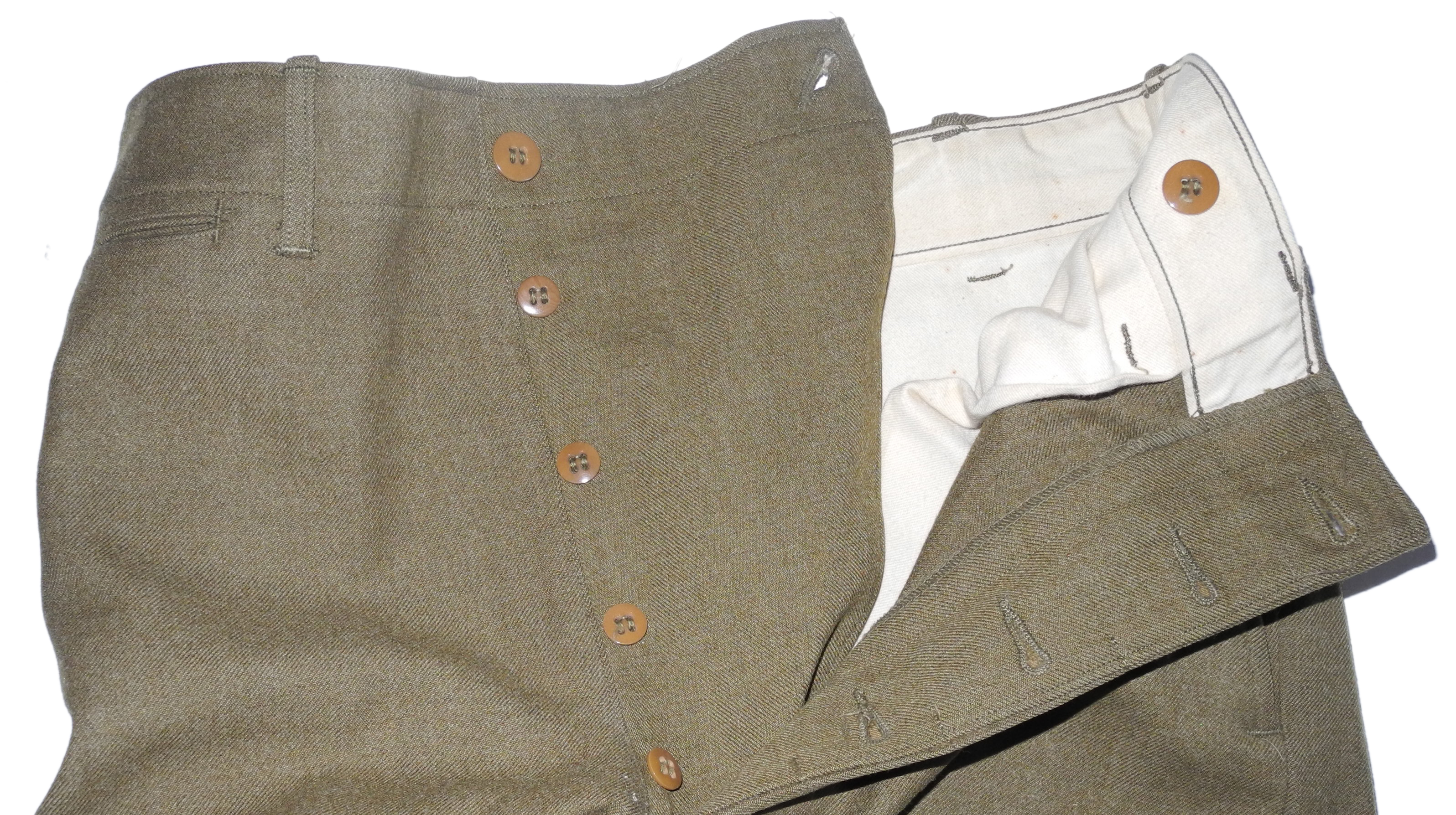 AAF enlisted OD wool trousers