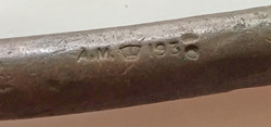 RAF mechanic's copper punch dated 1936