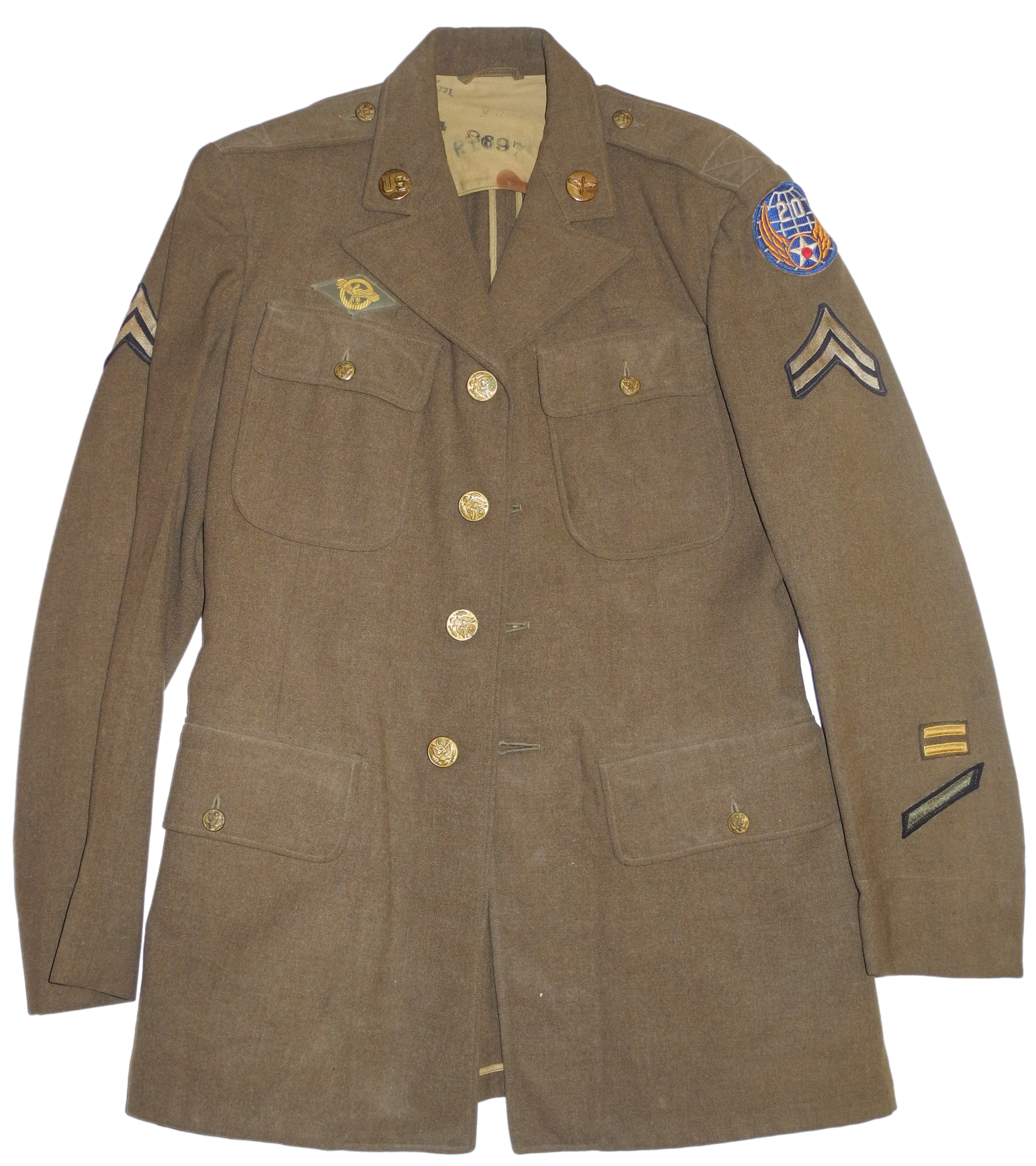 AAF enlisted 20th AF 4-pocket tunic