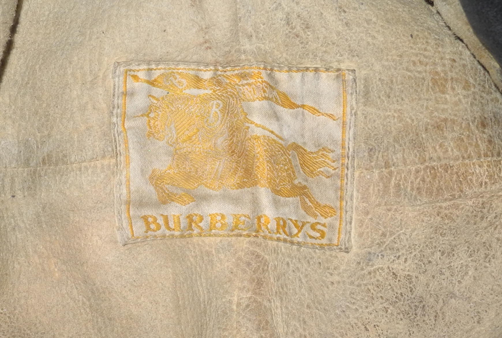 Burberry 1930s flying helmet with Gosports