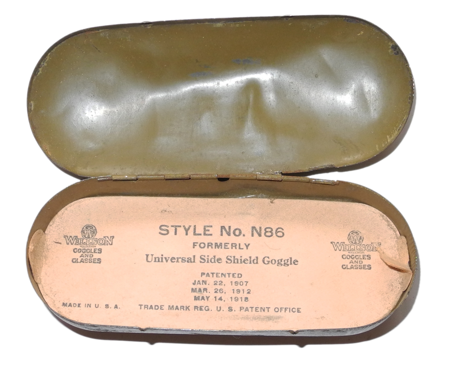 Willson N86 goggles 1918