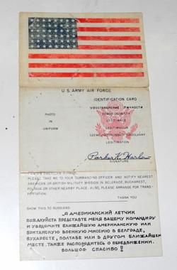 AAF Soviet ID / Blood Chit