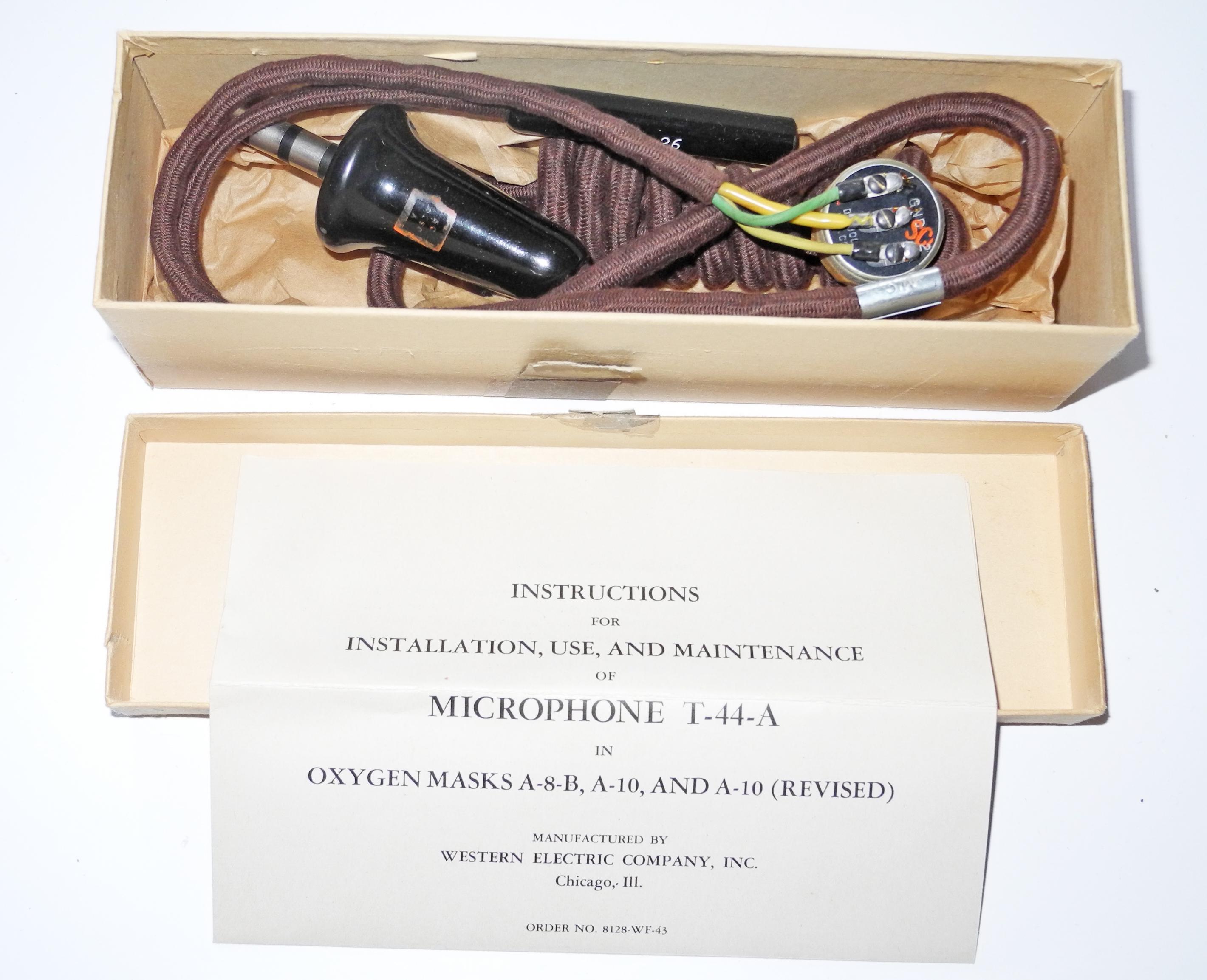 AAF T-44A wiring loom with mic.+plug