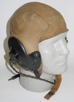AAF Type A-10A flying helmet with communications