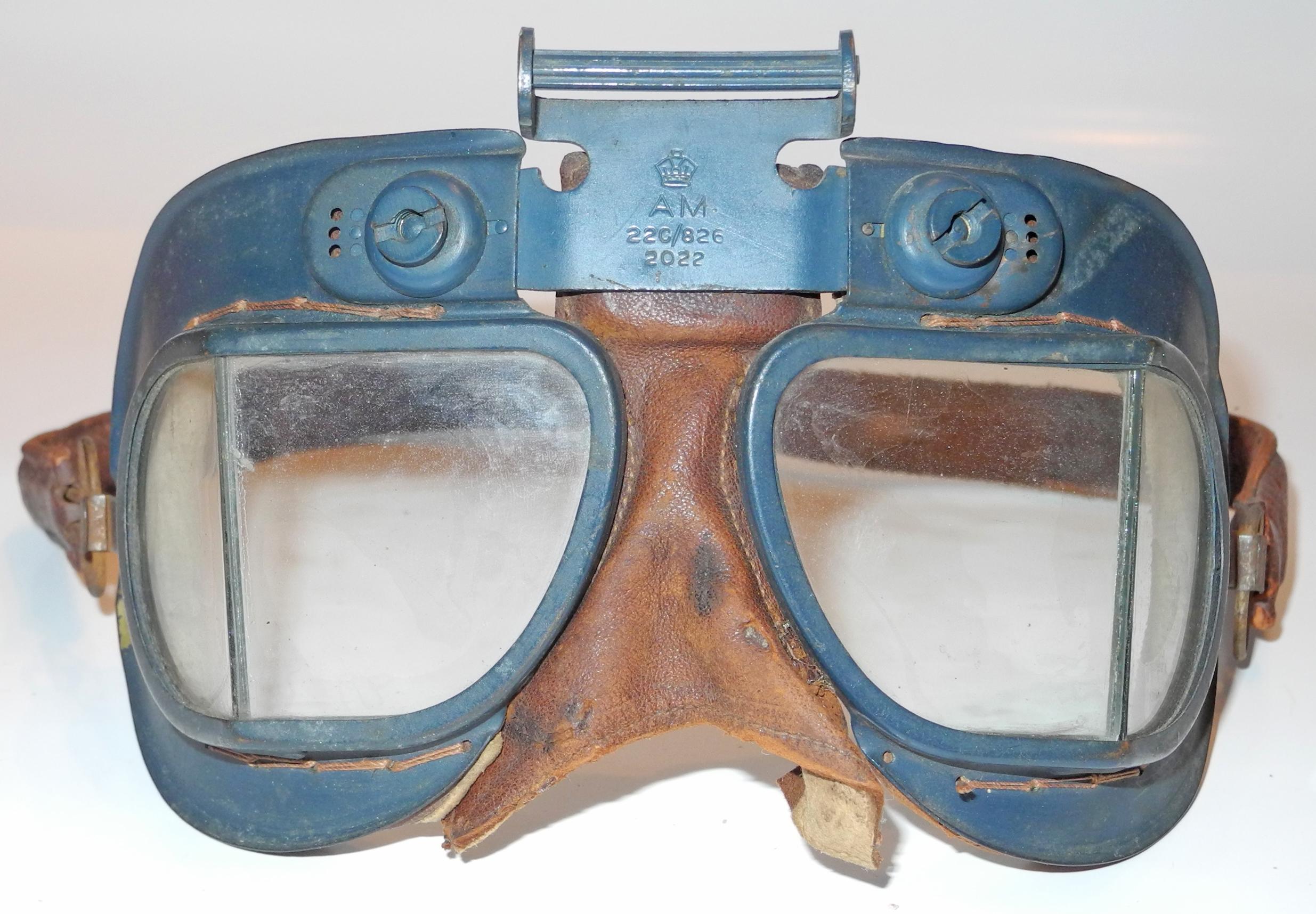 RAF Mk VII flying goggles - early
