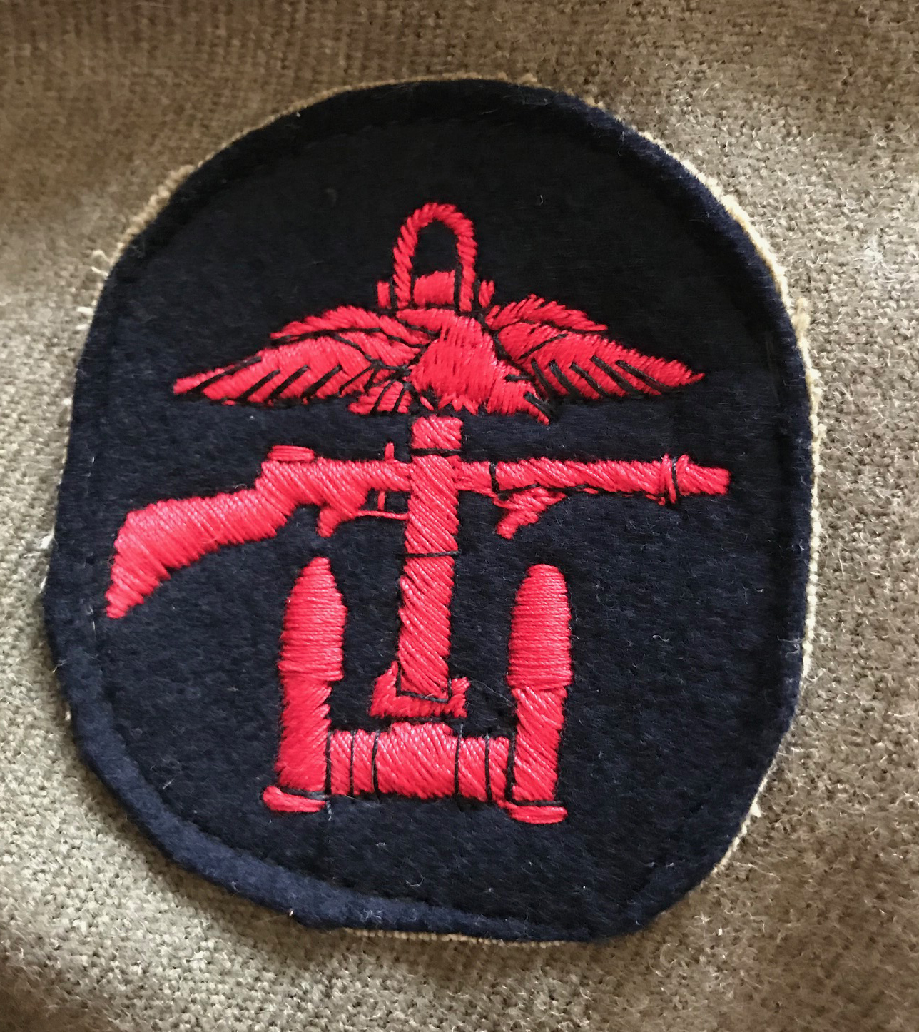 WWII Australian made BD with No.3 Commando and combined ops patches