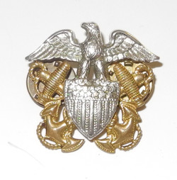 USN overseas cap badge CB