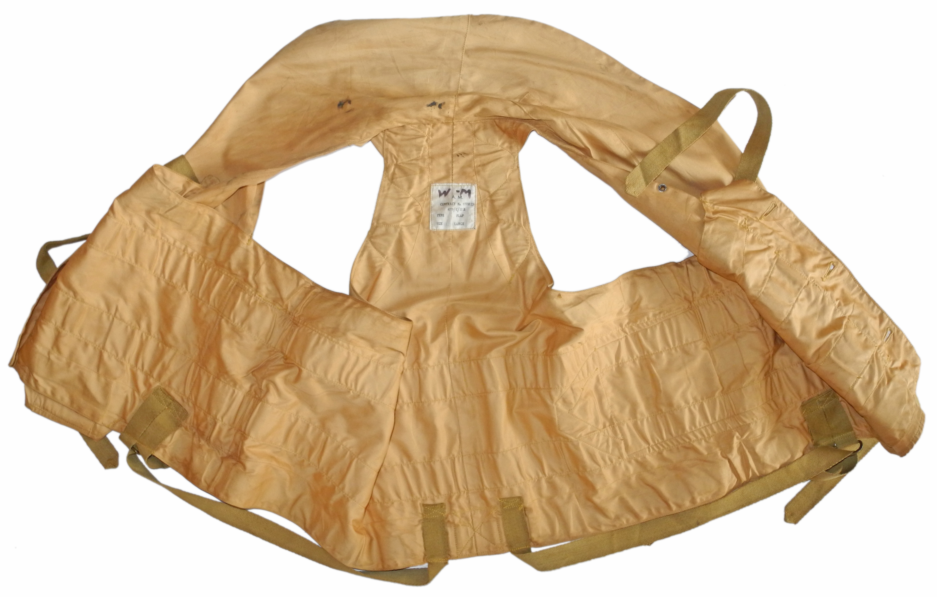 RAF 1941 Pattern Life Vest in excellent condition.