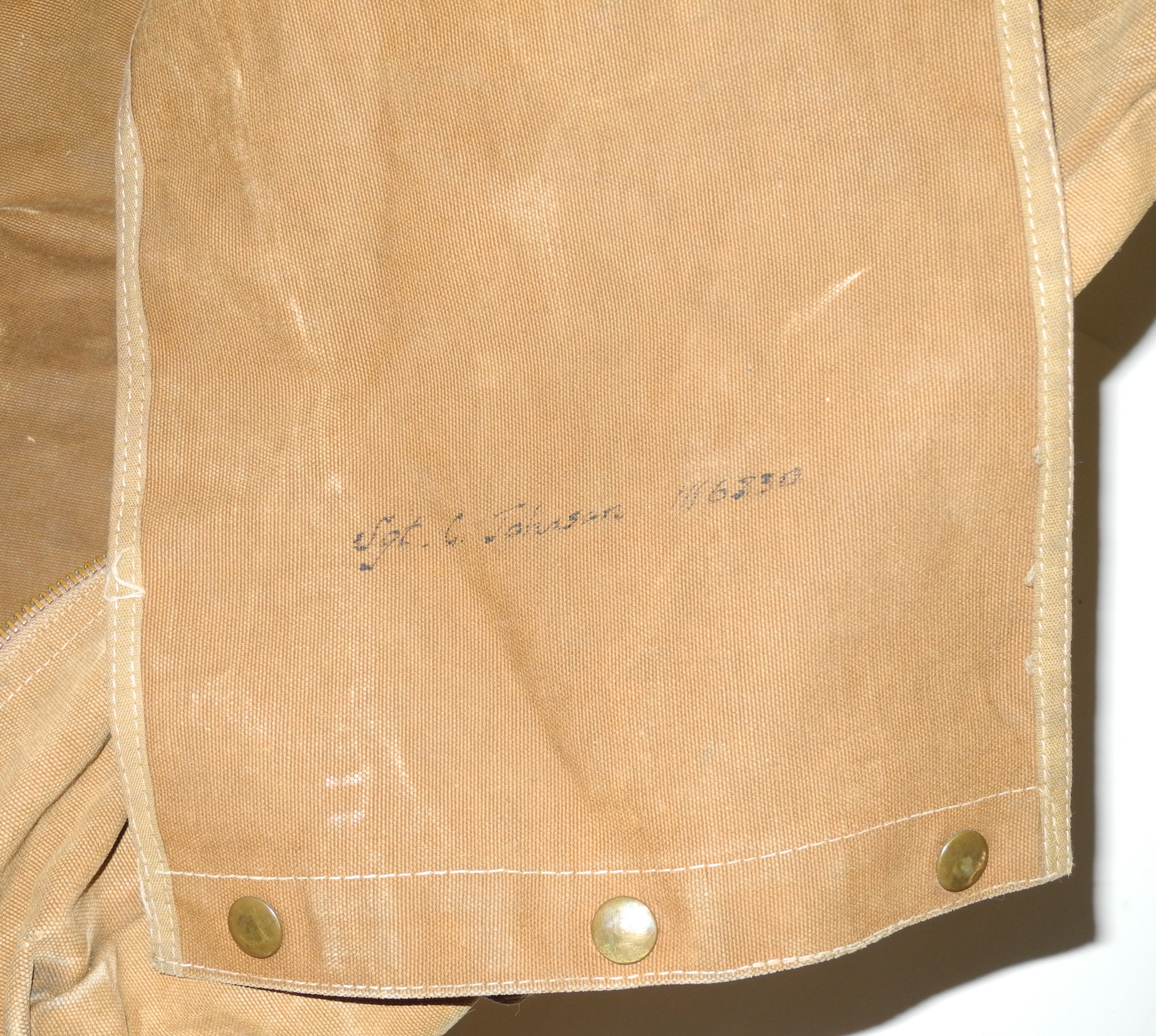 Early wartime RAF parachute bag