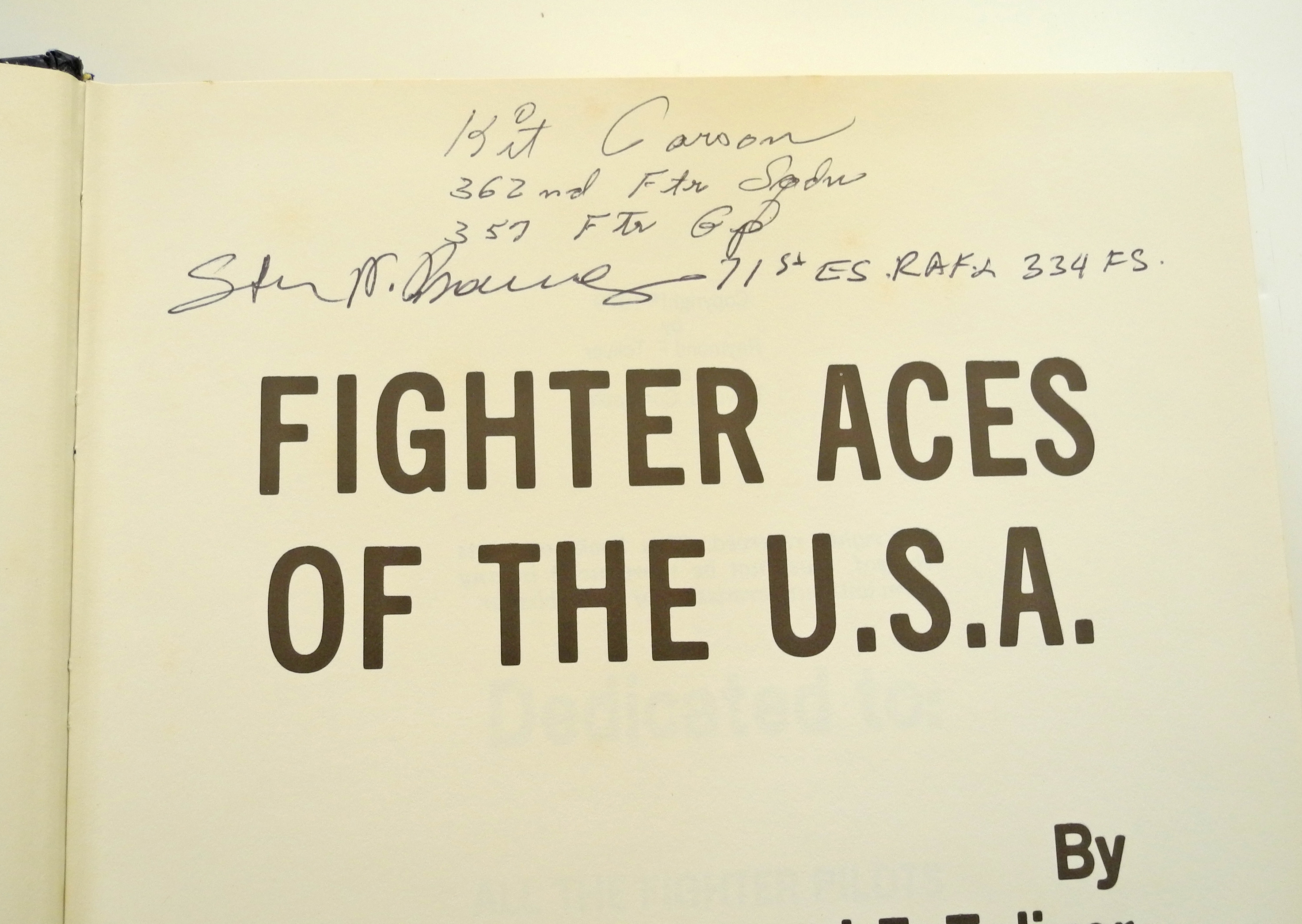 Fighter Aces of the USA - 1st Edition signed