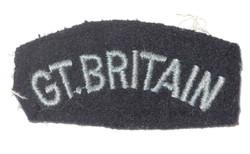 """RAF """"Great Britain"""" shoulder title"""