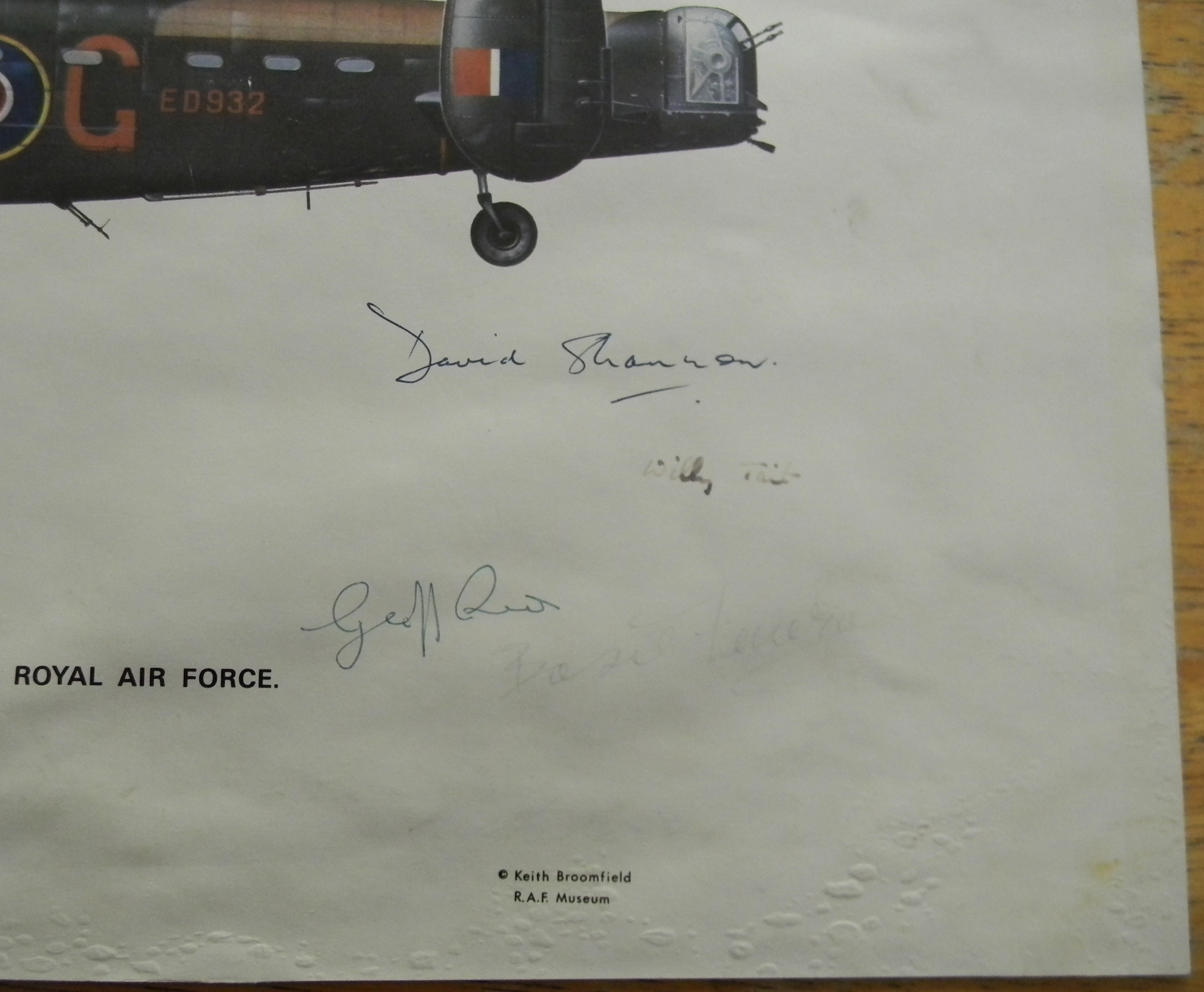 Dambusters signed Lancaster profile