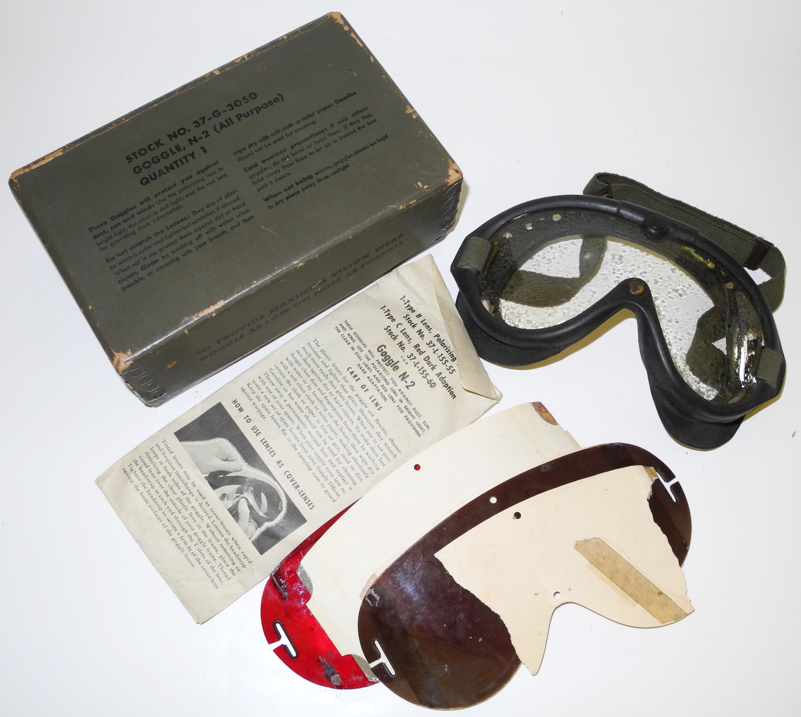 USN N-2 / M-1944 goggles boxed