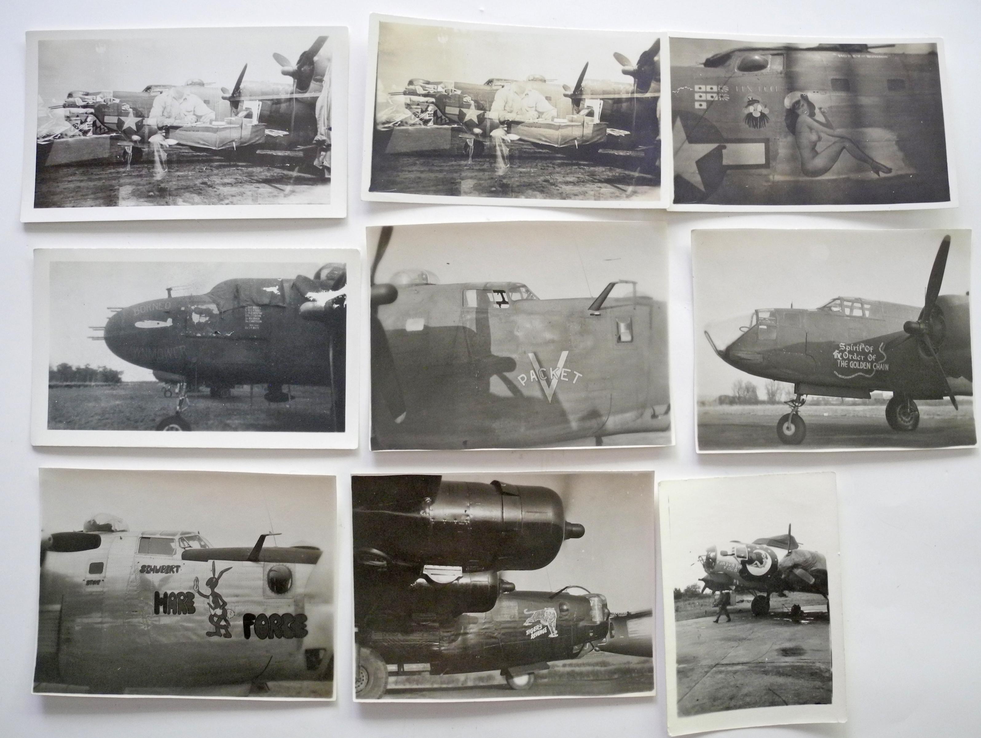 AAF original wartime Nose Art photos