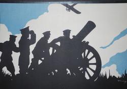 Original WWI recruiting poster