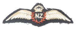 RNZAF embroidered pilot wing
