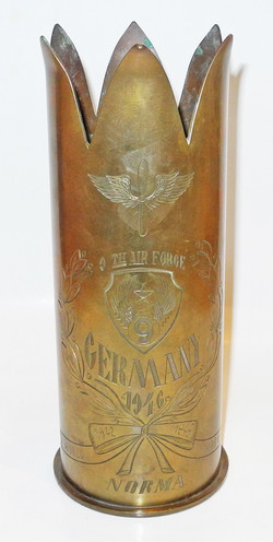 AAF 9th AF and 7th AF shell trench art
