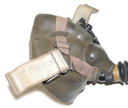 RAF Type H mask with hose dated 19528
