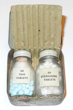 RAF survival kit water sterilizing