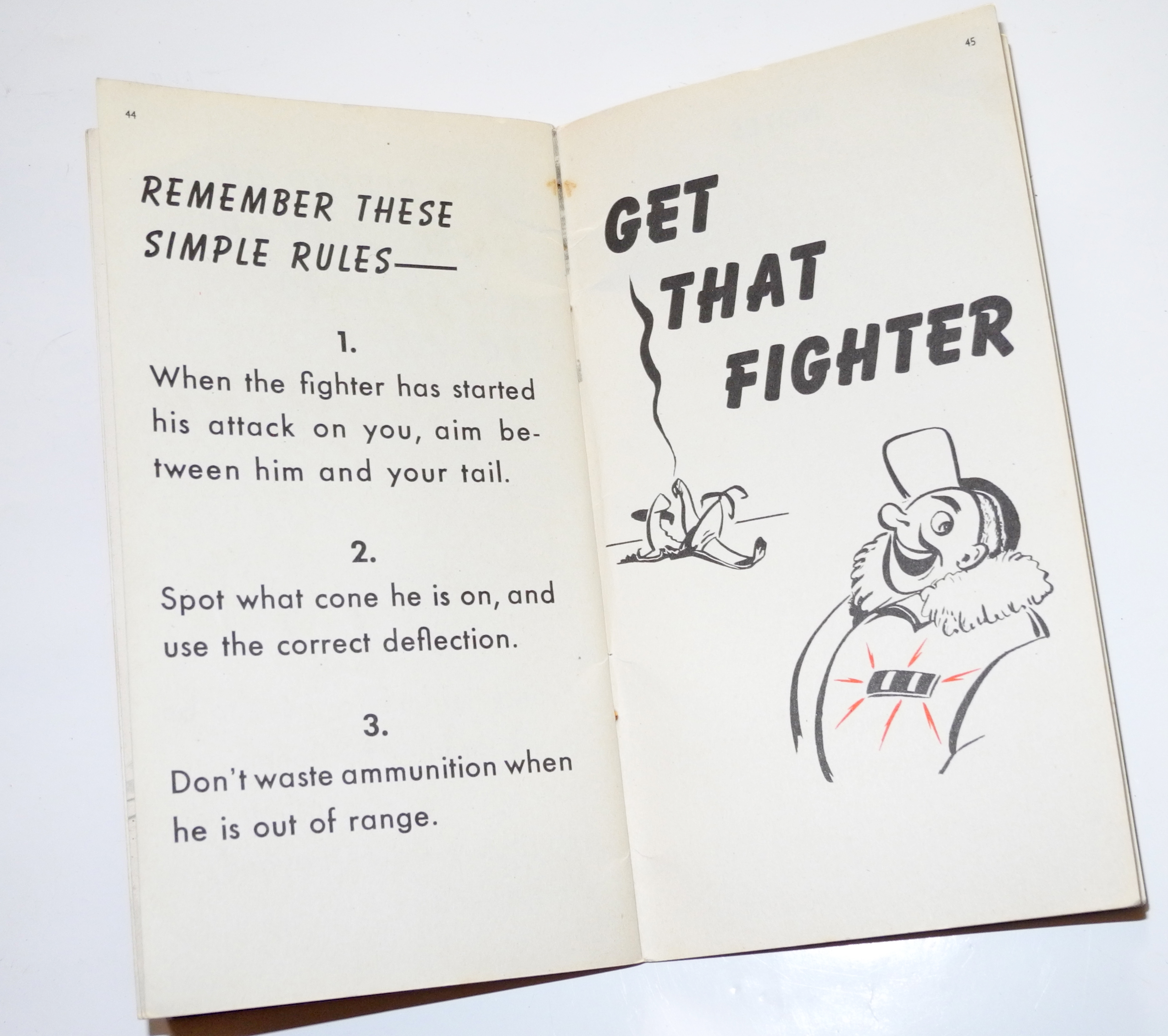 "US Navy Air Gunner Training Manual ""Get that Fighter."""