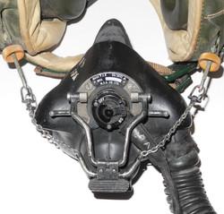 RAF MK 2A bone-dome jet helmet with Type P oxygen mask,  complete in transit case