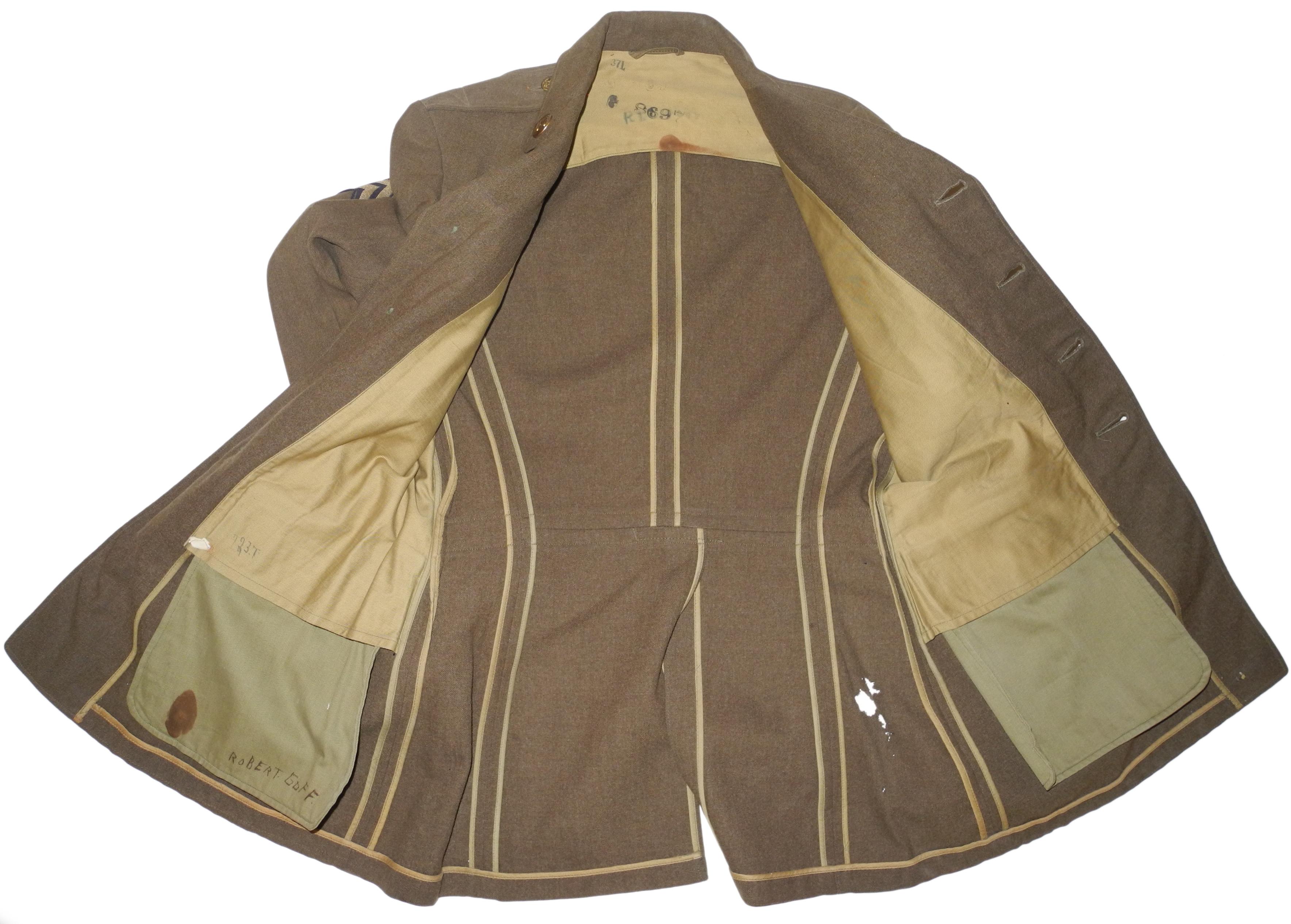 AAF enlisted 20th AF 4-pocket tunicted 13th AF 4-pocket tunic