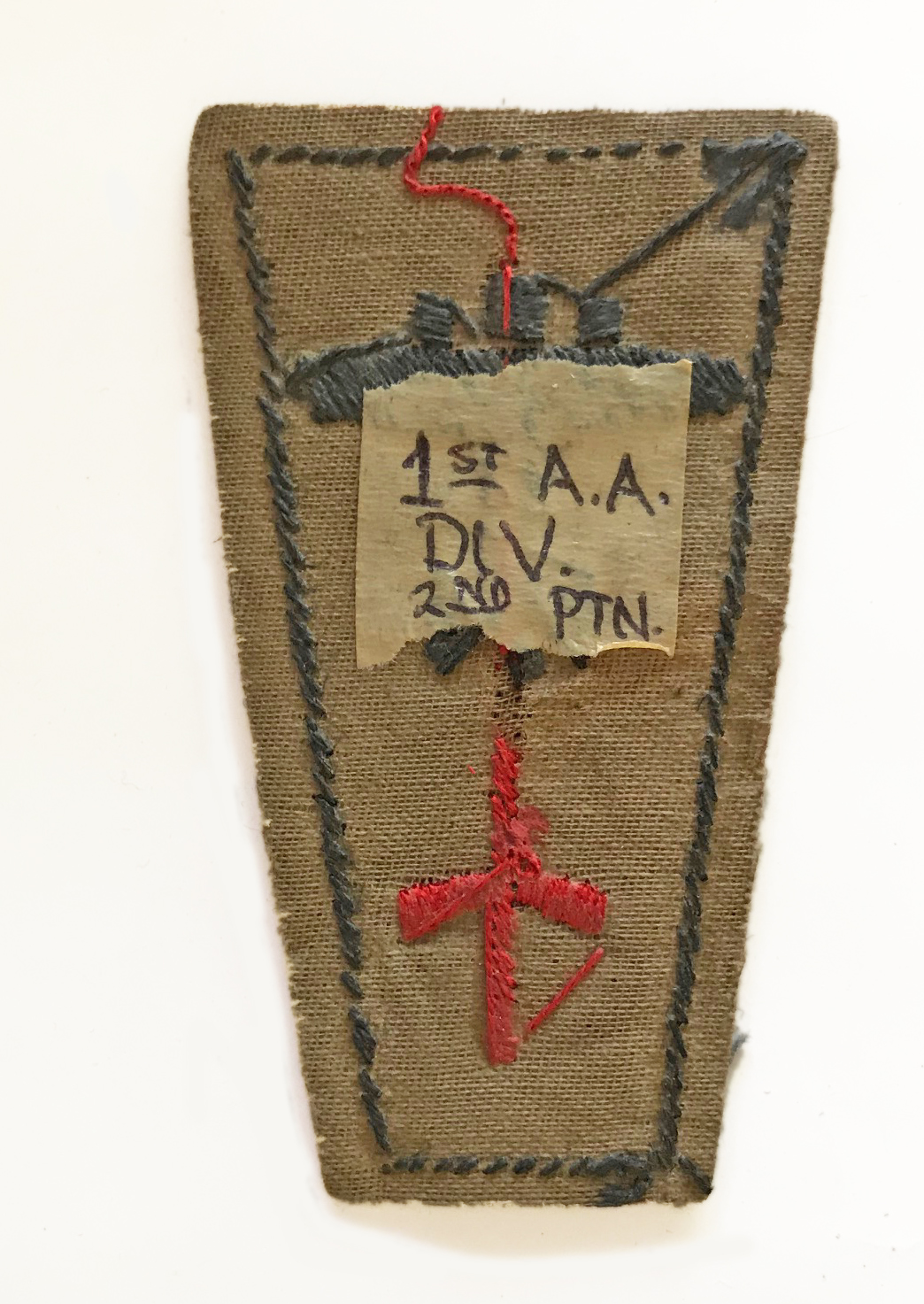 Rare early anti-aircraft patch