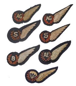RAF aircrew brevets - padded