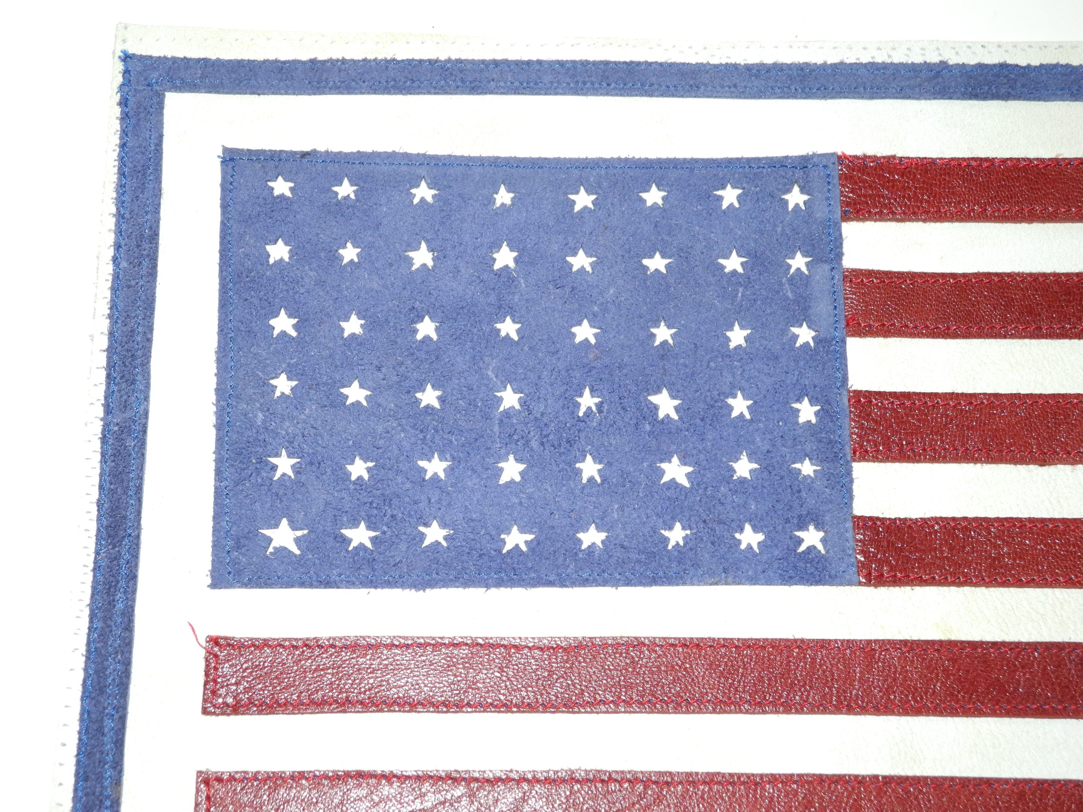 Leather 48 star flag for A-2 jacket